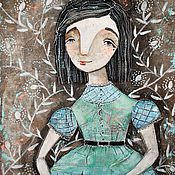Картины и панно ручной работы. Ярмарка Мастеров - ручная работа Алиса (репродукция). Handmade.