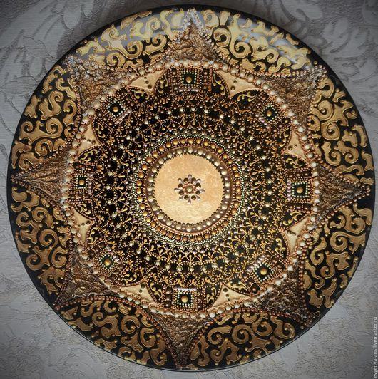 Декоративная посуда ручной работы. Ярмарка Мастеров - ручная работа. Купить Тарелка декоративная Golden symphony. Handmade.