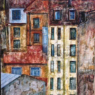 Картины и панно ручной работы. Ярмарка Мастеров - ручная работа Картина Город. Handmade.