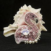 """Украшения ручной работы. Ярмарка Мастеров - ручная работа Брошь """"Розовый фламинго"""". Handmade."""