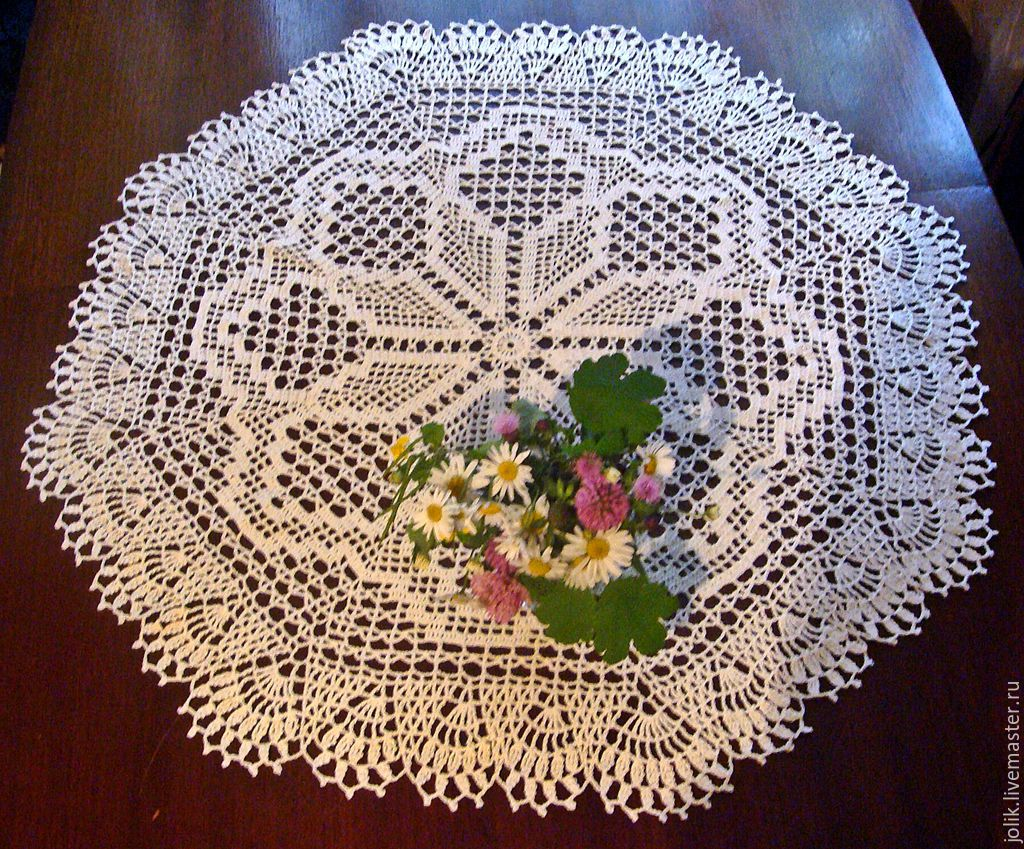 Large Round Doily Or Small Tablecloth Crochet заказать