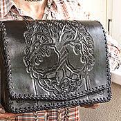 handmade. Livemaster - original item Leather bag