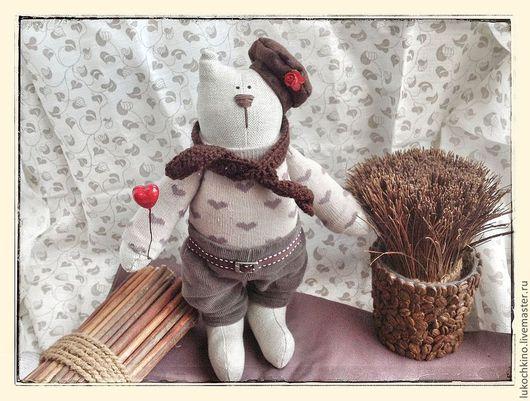 Куклы Тильды ручной работы. Ярмарка Мастеров - ручная работа. Купить Тильда кот Ковалер. Handmade. Коричневый, кот, шерсть