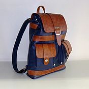 Сумки и аксессуары handmade. Livemaster - original item Backpack leather city 72. Handmade.
