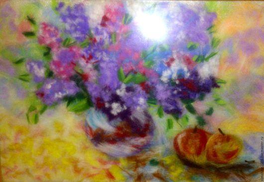 Картины цветов ручной работы. Ярмарка Мастеров - ручная работа. Купить Сирень. Handmade. Сиреневый, картина, подарок
