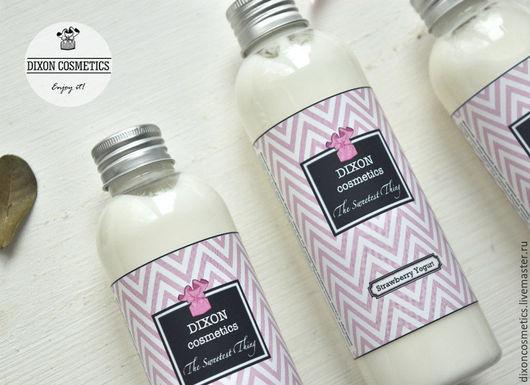 """Молочко для тела ручной работы. Ярмарка Мастеров - ручная работа. Купить """"Клубничный йогурт"""" молочко для тела. Handmade. Розовый, Лосьон"""