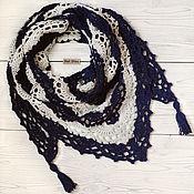 Аксессуары handmade. Livemaster - original item Bactus knitted openwork with tassels