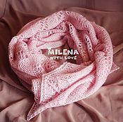 Аксессуары handmade. Livemaster - original item Knitted stole Pink Pastille. Handmade.