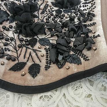 """Одежда ручной работы. Ярмарка Мастеров - ручная работа Корсет """"Ночные Розы"""" шелковый бархат. Handmade."""
