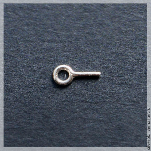 Для украшений ручной работы. Ярмарка Мастеров - ручная работа. Купить Бейл камнедержатель штырь с кольцом серебро 925 проба. Handmade.