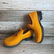 Обувь ручной работы. Ярмарка Мастеров - ручная работа Мокасины валяные. Handmade.
