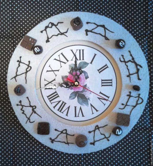 """Часы для дома ручной работы. Ярмарка Мастеров - ручная работа. Купить Часы настенные """"Шоколадный десерт"""". Handmade. Белый"""