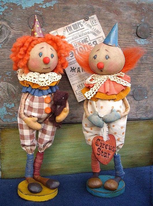 Коллекционные куклы ручной работы. Ярмарка Мастеров - ручная работа. Купить Цирк уехал.... Handmade. Цирк, интерьерная кукла, хлопок