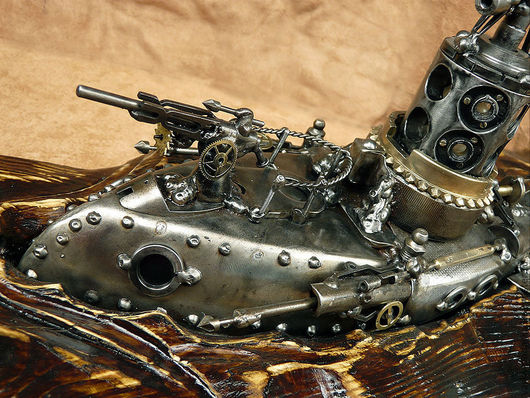 """Освещение ручной работы. Ярмарка Мастеров - ручная работа. Купить Подлодка """"ЁршЪ"""". Handmade. Подводная лодка, подлодка, медь"""