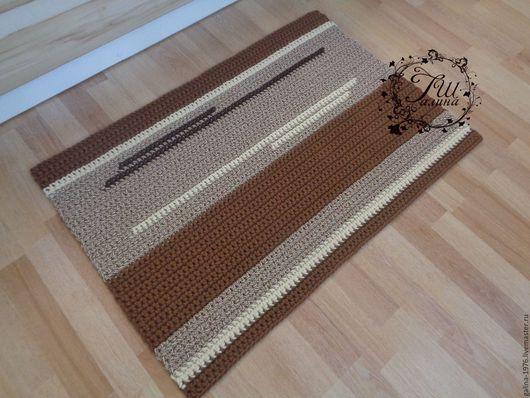 """Текстиль, ковры ручной работы. Ярмарка Мастеров - ручная работа. Купить Вязаный коврик """"Покорность"""". Handmade. Комбинированный, ручная работа"""