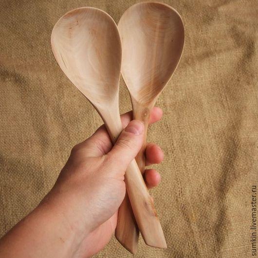 Ложки ручной работы. Ярмарка Мастеров - ручная работа. Купить Деревянные ложки. Пара больших столовых ложек «Растущие вместе». Handmade.