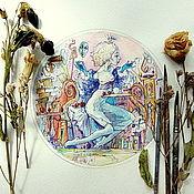 """Картины и панно ручной работы. Ярмарка Мастеров - ручная работа """"Принцесса на горошине или приключения юной лежебоки"""". Handmade."""
