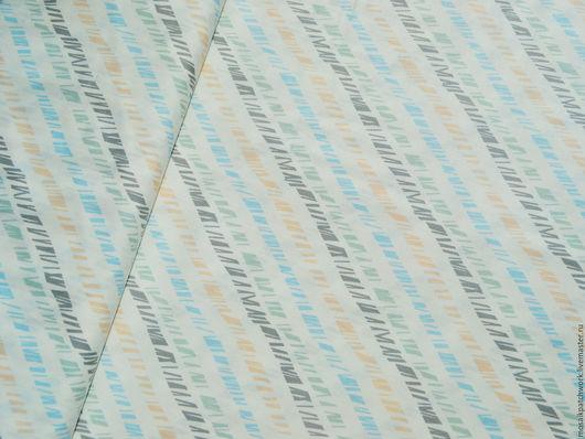 """Шитье ручной работы. Ярмарка Мастеров - ручная работа. Купить Хлопок ткань для пэчворка РАСПРОДАЖА """"Полоска 2"""". Америка. Handmade."""