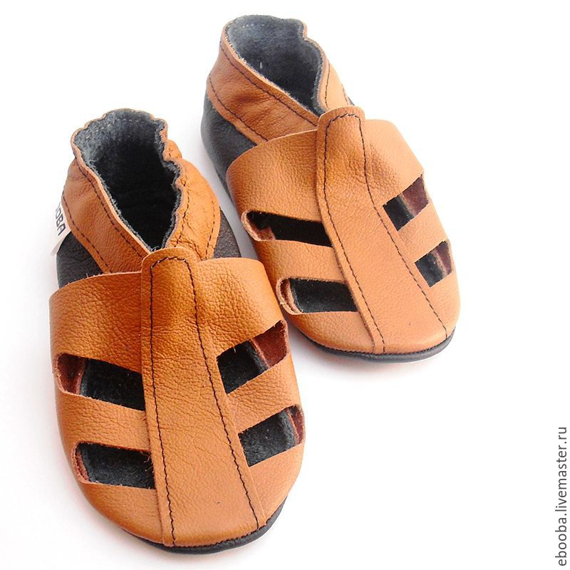 3a563286c8c09 soft sole baby shoes leather handmade infant gift kids sandals brown ebooba  ...