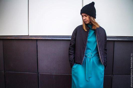 Верхняя одежда ручной работы. Ярмарка Мастеров - ручная работа. Купить Короткая двухстороняя куртка. Handmade. Черный, двусторонний