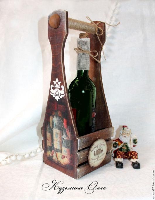 """Корзины, коробы ручной работы. Ярмарка Мастеров - ручная работа. Купить короб для вина и шампанского """" Старинный погребок"""". Handmade."""