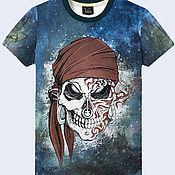 """Одежда ручной работы. Ярмарка Мастеров - ручная работа Мужская футболка """"Пиратский череп"""". Handmade."""