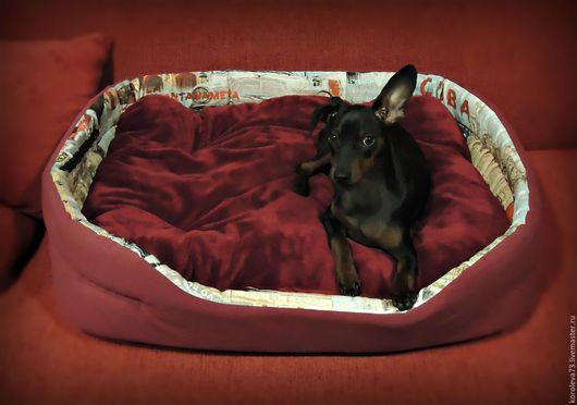 Аксессуары для собак, ручной работы. Ярмарка Мастеров - ручная работа. Купить Лежак для собаки, кошки.. Handmade. Комбинированный, Мебельная ткань