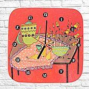 Для дома и интерьера handmade. Livemaster - original item Kitchen clock still life Acrylic painting. Handmade.