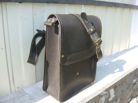 Мужские сумки ручной работы. Ярмарка Мастеров - ручная работа. Купить Мужская  сумка  из натуральной кожи № 19. Handmade.