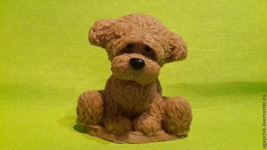 """Мыло ручной работы. Ярмарка Мастеров - ручная работа. Купить Мыло""""Ищу хозяина"""". Handmade. Щенок, щенок тедди, любителям собак"""