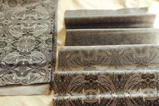 """Шитье ручной работы. Ярмарка Мастеров - ручная работа. Купить Ткань """"Переливы цвета"""" - 2. Handmade. Чёрно-белый, серый"""