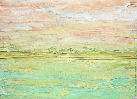 картина маслом на холсте с подрамником абстракция саванна.