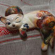 Для дома и интерьера handmade. Livemaster - original item Pumpkin (ceramic cat). Handmade.