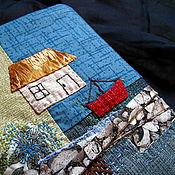 """Канцелярские товары ручной работы. Ярмарка Мастеров - ручная работа обложка для книги """" Домик у моря"""". Handmade."""