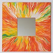 """Для дома и интерьера ручной работы. Ярмарка Мастеров - ручная работа Зеркало """" Пламя"""". Handmade."""