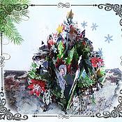 Открытки ручной работы. Ярмарка Мастеров - ручная работа Открытка  Новогодние чудеса:. Handmade.