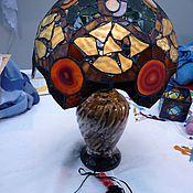 Для дома и интерьера ручной работы. Ярмарка Мастеров - ручная работа Лампа с Агатами, витраж. Handmade.