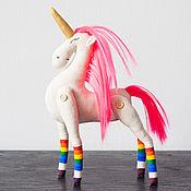 Куклы и игрушки handmade. Livemaster - original item The author`s soft toy Pink Unicorn. Handmade.