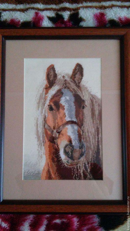 Животные ручной работы. Ярмарка Мастеров - ручная работа. Купить Красотка лошадка. Handmade. Коричневый, ручная работа, картина, вышивка
