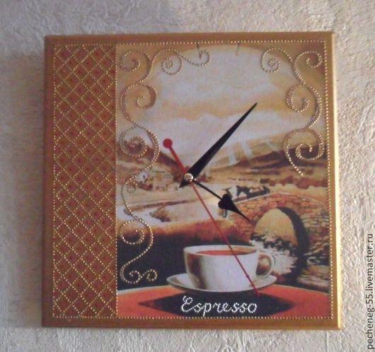"""Часы для дома ручной работы. Ярмарка Мастеров - ручная работа. Купить Часы """"Утренний кофе"""". Handmade. Часы настенные"""