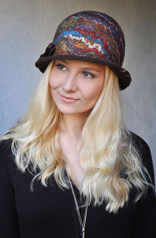 "Шляпы ручной работы. Ярмарка Мастеров - ручная работа. Купить Шляпа ""Lindt"". Валяная, шерстяная.. Handmade. Шапка, шерстяная шапка"