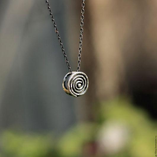 """Кулоны, подвески ручной работы. Ярмарка Мастеров - ручная работа. Купить кулон """"Спираль"""", серебро. Handmade. Серебряный, кулон из серебра"""