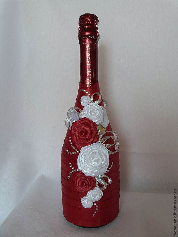 Как самому украсить бутылки из под шампанского к празднику