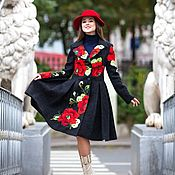 Одежда handmade. Livemaster - original item Autumn coat Carnation. Handmade.