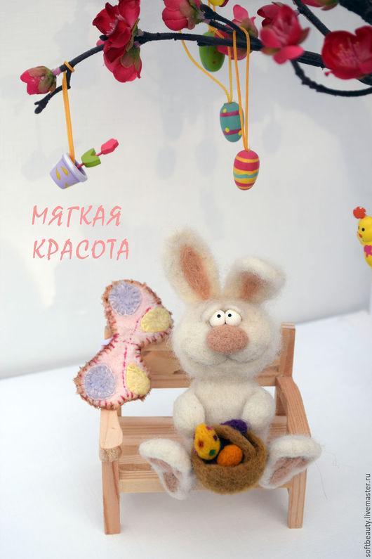 """Подарки на Пасху ручной работы. Ярмарка Мастеров - ручная работа. Купить Подарок к Пасхе игрушка войлочная """"Пасхальный заяц"""". Handmade."""