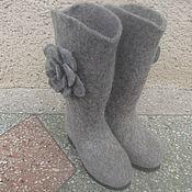Обувь ручной работы. Ярмарка Мастеров - ручная работа Сапоги женские валяные .. Handmade.