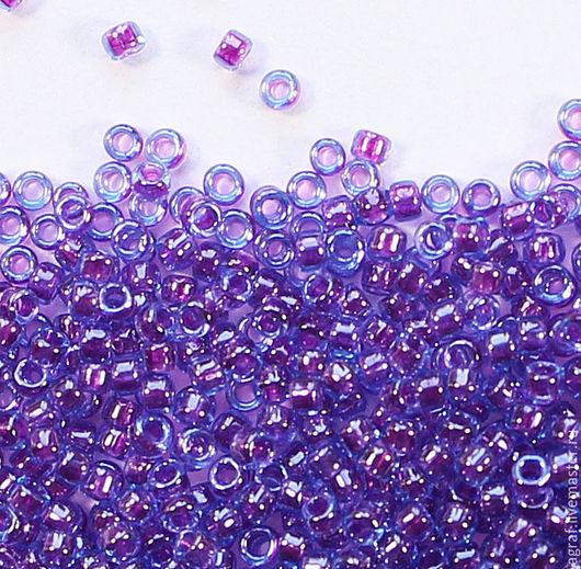 Для украшений ручной работы. Ярмарка Мастеров - ручная работа. Купить Круглый 15/0 TOHO 252 Purple Lined Aqua японский бисер. Handmade.