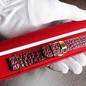 Ремни ручной работы. Ярмарка Мастеров - ручная работа Ремешок для часов из кожи крокодила. Handmade.
