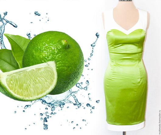 Платья ручной работы. Ярмарка Мастеров - ручная работа. Купить ..Зеленый лайм.. платье футляр. Handmade. Зеленый, лаймовый
