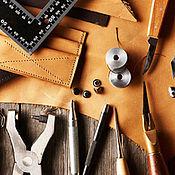 Материалы для кукол и игрушек ручной работы. Ярмарка Мастеров - ручная работа Мастер-класс работы по коже. Handmade.